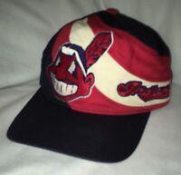 Vintage Cleveland Indians Big Chief Wahoo Logo Hat Cap MLB Snapback