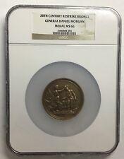 General Daniel Morgan Medal  (20th Century Restrike) - Bronze - NGC MS66