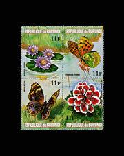 Burundi, Sc #440, Perf, MNH, 1973, Butterflies, Flowers, Plants, 8FAID
