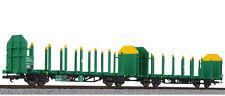 Liliput L235244 Güterwagenset Flachwagen Laaps 565 Holztransport VTG H0