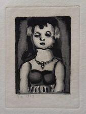 Georges ROUAULT : Petite fille au collier - GRAVURE ORIGINALE SIGNEE #1955