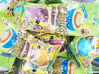 5x JAWBREAKER ON A STICK Lollipop With Bubble Gum Center and Tongue Tattoo