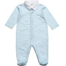 FENDI Baby Blu Cotone Bird Babygrow 1 mese