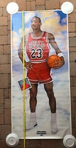 "Michael Jordan Chicago Bulls 1988 Growth Chart Poster 76""x35"" Chicagoland Chevy"