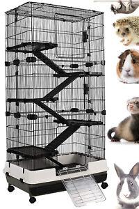 X-Large 6-Tiers Indoor Outdoor Hedgehog Rabbit Bunny Guinea Pig Cage Hutch Wheel
