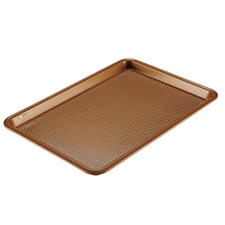 Copper Chef Cookie Sheet Non-Stick Baking Pan Set Durable Bakeware Bakery Tray