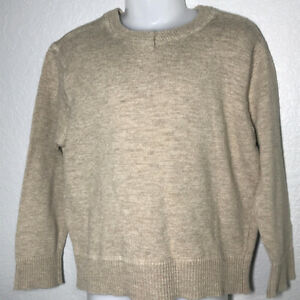 Cherokee Sweater Boys XS 4/5 Brown Pullover Long Sleeve Crew Neck 100% Cotton