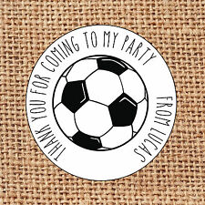 Football Party bag stickers 24 thank you for coming sweet cone birthday L