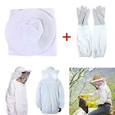 New Protective wholebody Beekeeping Suit With Veil Hood and Gloves in Large Size