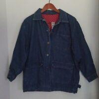 Super rare! J. JILL LTD. Sz S/M Vintage Denim/Jean Jacket Lined Dark wash Blue