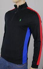 Polo Ralph Lauren Black 1/2 Half Zip Pima Cotton Mockneck Pullover NWT