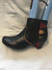 Rieker Ladies Ankle Boots UK Size 6 EU Size 39 Grey/ Black Faux Leather