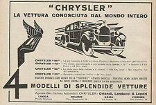 Z0456 CHRYSLER la vettura conosciuta dal... - Pubblicità del 1927 - Advertising