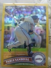 2011 Topps Chrome Pablo Sandoval Gold Refractor 09/50 Made!! NM-MT