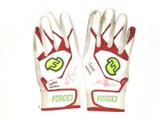 LOGAN BROWN FLORIDA FIRE FROGS GAME WORN USED SIGNED NIKE FORCE3 GLOVES * BRAVES