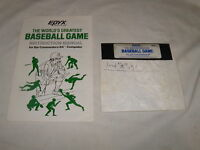 EPYX The World's Greatest Baseball Game (Commodore 64 C64) with manual