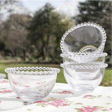 nigella lawson Glass Beaded Small Small Breakfast /Dessert Bowls X3