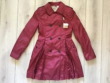 NEW original BURBERRY women Berry Pink color trench coat Size S ( It-36)