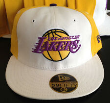 Los Angeles Lakers NEW ERA 59FIFTY NBA Licensed Hat Purple Under Brim 6 7/8