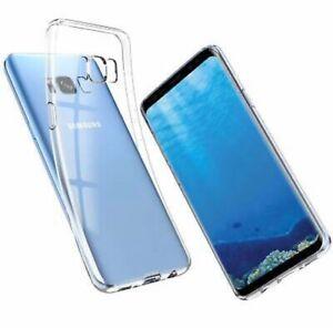 Samsung Galaxy S8 Silikon Case Silicon Schutzhülle Hülle Schale Tasche TPU Klar