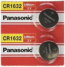 2 x SUPER FRESH Panasonic CR1632 ECR1632 Lithium Battery 3V Coin Cell Exp. 2027