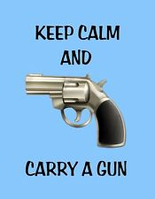METAL MAGNET Keep Calm And Carry A Gun Humor Family Friend MAGNET