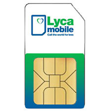 Lycamobile UK SIM Card with £10 Credit (Triple Sim - STANDARD:MIRCO:NANO)