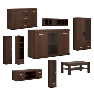 Mahogany Living Room Furniture Set - Sideboard, Coffee Table, Cabinets & More