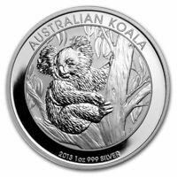 2013 Australian   ** Koala  ** 1oz   BU Silver .999  Coin in capsule