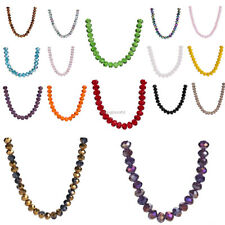 10pcs 12x8mm Rondelle Faceted Crystal Glass Spacer Beads Jewelry Making Finding