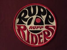 NOS VINTAGE RUPP RIDERS Patch snowmobile 1970s Collector minibike Mint!