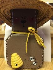 Cement Honey Bear with Hat and Bees Garden Brick Stone Block Concrete