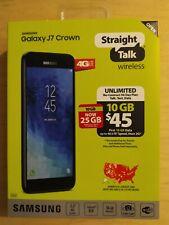 """New Samsung Galaxy J7 Crown 16GB 5.5"""" 4G LTE Prepaid Smartphone - Straight Talk"""