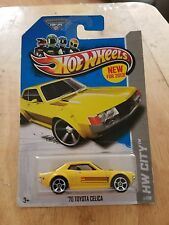 2013 HOT WHEELS CITY '70 TOYOTA CELICA (YELLOW) # 1/250 NIB
