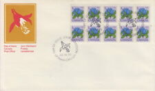CANADA #705 1¢ BOTTLE GENTIAN BLOCK OF TEN FIRST DAY COVER