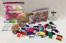 Weave Wheel Landyard Maker Instructions Neon Beads Cord Carded Thread Floss Lot