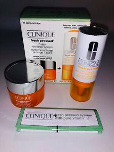 Clinique Fresh Pressed 7 day recharge super defence cream Pure vitamin C £26 new