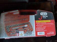 """JETECH 3/8"""" drive 46 pcs Socket Ratchet Screwdriver Bits set 017346 SK3/8-46SP"""