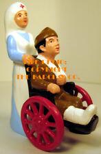 #6017 - Nurse Pushing Wheelchair, New Barclay Style!