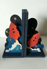 Wooden bookends (large) - Rocket