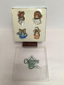 Rare Fitz and Floyd Charming Tales SPRING GARDEN LAPEL PINS LE 80/101 NIB COA