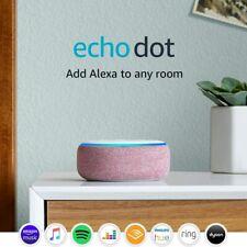 Amazon Echo Dot (3rd Generation) Smart Speaker With Alexa - Plum Fabric - New