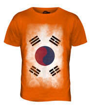 SOUTH KOREA FADED FLAG MENS T-SHIRT TOP HANGUK KOREAN NAM-JOS?N SHIRT FOOTBALL