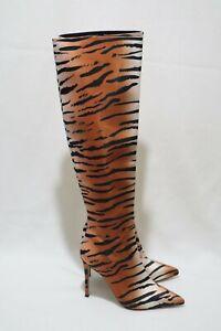 Tony Bianco Size 7 Womens Animal Print Knee High Boots