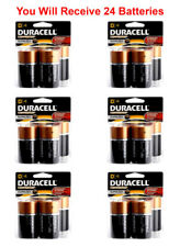 24x Duracell Size D Battery 1.5V D4 Coppertop Alkaline LR20 Fresh USA (6x D4)