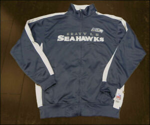Seattle Seahawks NFL End Zone Full Zip Mens Track Jacket Big & Tall Sizes