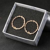 Women Leaf Branch Circle Geometric Dangle Ear Stud Earrings Party Jewelry Gifts