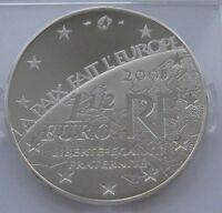 End of World War II PROOF France Silver 1-1//2 Euro 2005 60th Anniversary