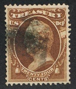 UNITED STATES (US) O80 USED VF 24c TREASURY