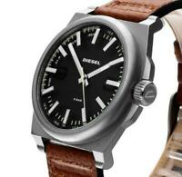 NEW  DIESEL DZ1611  men's watch brown strap NEW